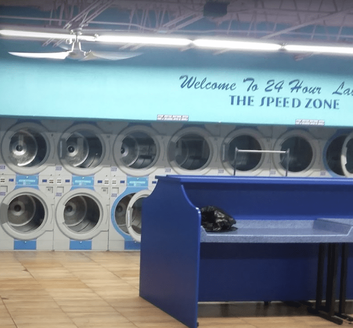 24 Hour Laundry dryers and a inside look at a 24 hour laundry