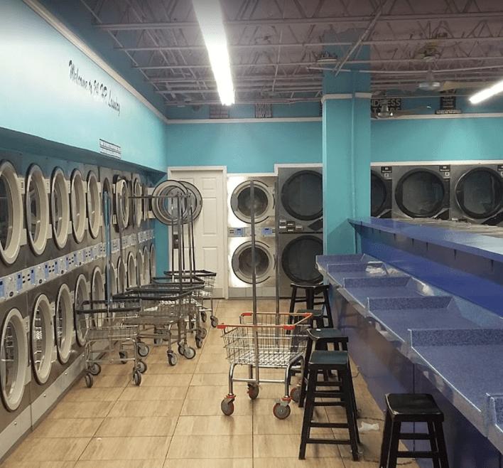 Inside the 24 hour Laundry Washateria near me